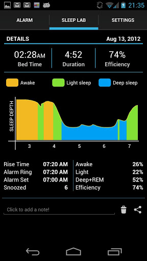 Sleep time screen