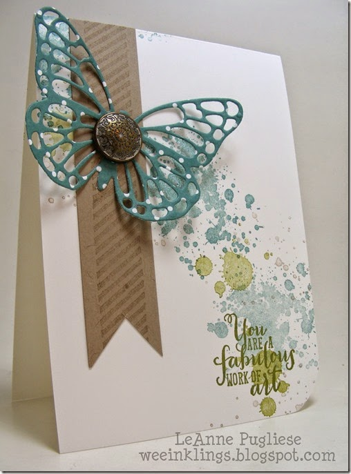 LeAnne Pugliese WeeInklings Butterfly Work of Art Stampin Up
