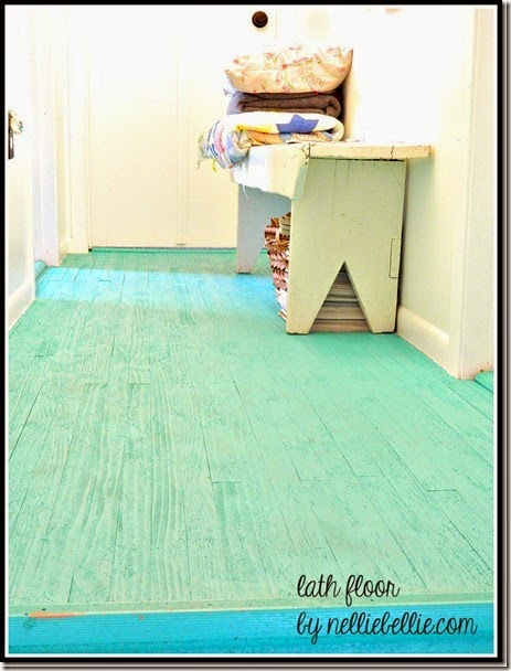 DIY lath flooring