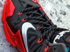nike lebron 11 gr black red 8 14 New Photos // Nike LeBron XI Miami Heat (616175 001)