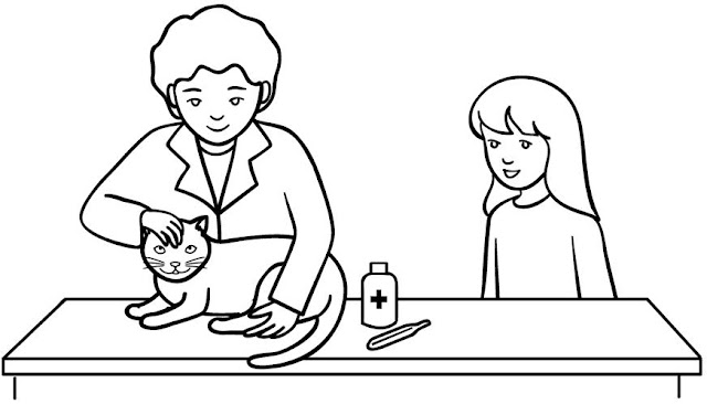 coloring pages veterinarian - photo#11