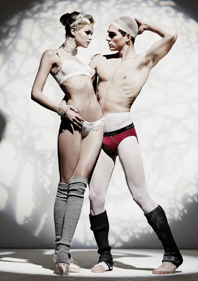Alexandre Cunha and TBD by TBD for John Galliano underwear/lingerie lookbook, F/W 2011