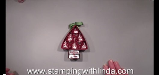 Hershey Kiss Christmas Tree Video by Stamping with Linda