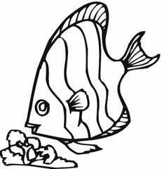 fish coloring pages-peixes para colorir