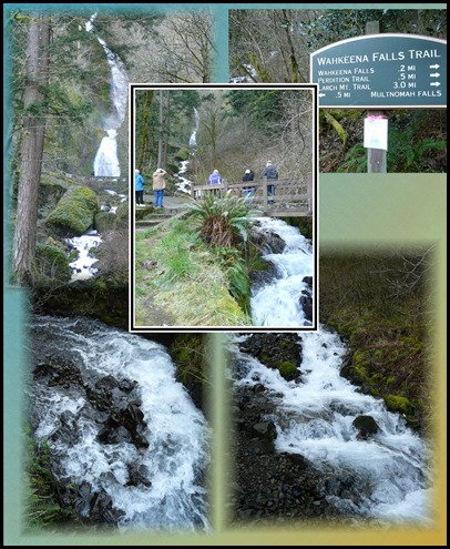 wahkeena falls collage