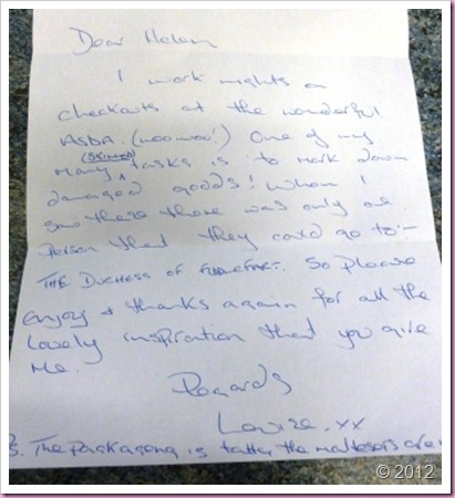 Letter from Louise
