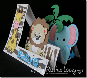 Invitation Jungle Safari themed - Baby Shower Invitation - BBQ invitation - Lion - Giraffe - Elephant - 2