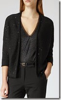Reiss Sequin Embellished Cardigan