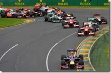 La partenza del gran premio d'Australia 2014