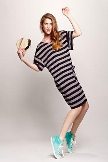 כותון אביב קיץ 2013 -שמלת פסים נעימה מחיר 250 שח - מחיר גורן ליונבונצ'יץ'