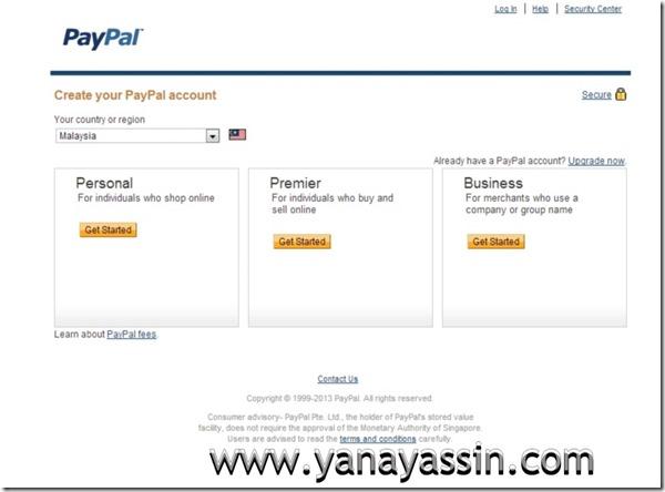 Cara daftar Paypal  101