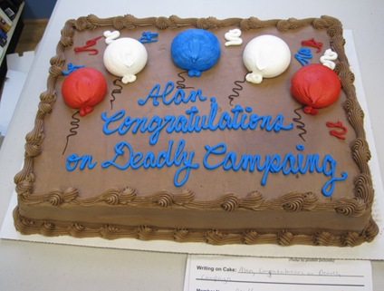 Deadly Campaing cake