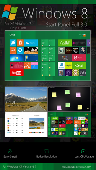 windows 8 start panel full 3.0