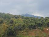 Looking up at the Kerenceng mountain range from Pondok Wisata Aki &Enin (Daniel Quinn, October 2012)