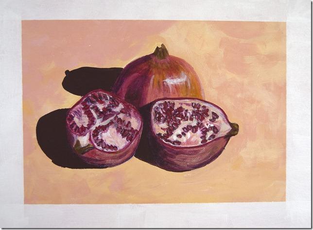 Lesley - pomegranates