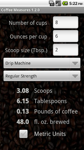 Coffee Measures