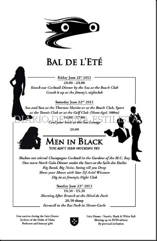 INVITATION BAL DE L'ETE Men i... Monaco June 21-23th 2013