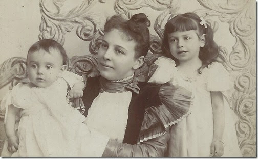 Inez Steinberger with children c 1896 cropped