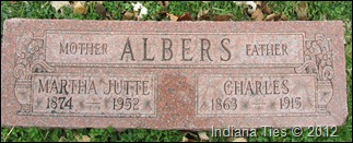 Albers tombstone