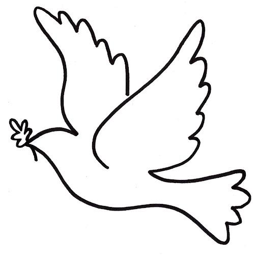 Moldes para dibujar palomas - Imagui