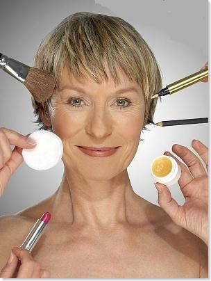 senior woman makeup