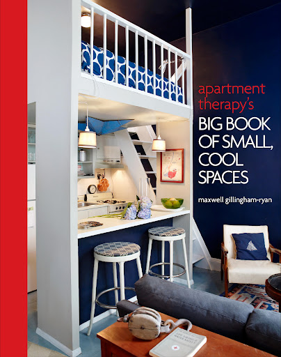 The book's cover illustrates just how much you can organize into a small space with some careful though and planning.