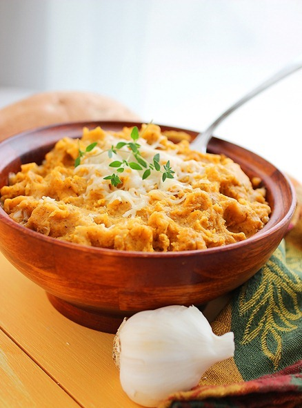 Brown Sugar Herb Mashed Sweet Potatoes