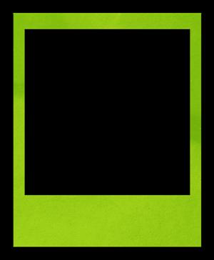polaroidframe-limegreen