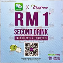 WeChat Chatime RM1 Promotion 2013 Malaysia Deals Offer Shopping EverydayOnSales