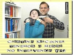 Kristina Kirchner tenemos a messi.Abr. 2012
