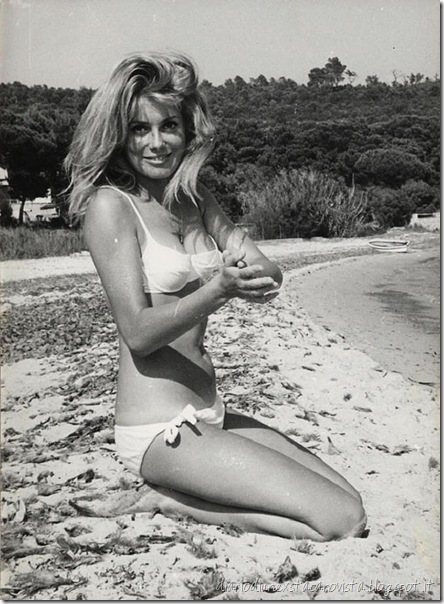 deneuve on the beach