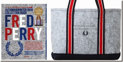 Fred Perry 2010 Autumn Winter Collection Book   Fred Perrry Laurel Mark tote bag 02