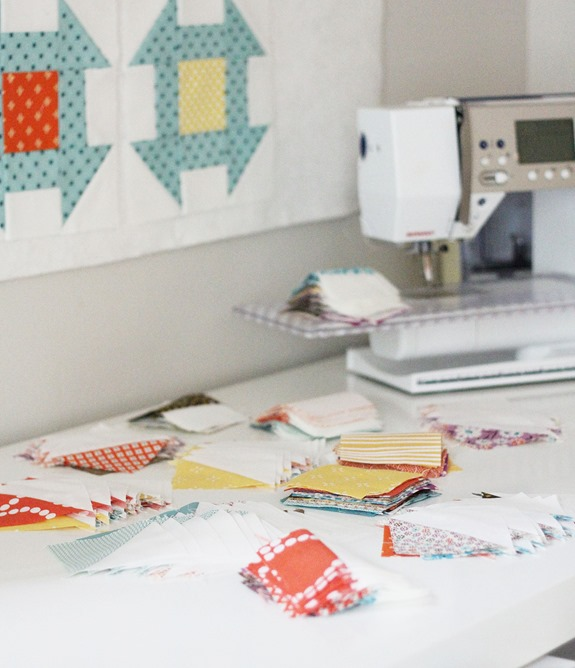 Churn Dash sewing, Cluck Cluck Sew
