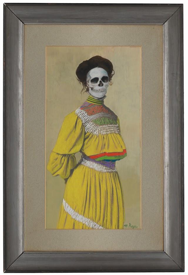 Untitled family portrait woman in yellow dress © Marcos Raya.jpg