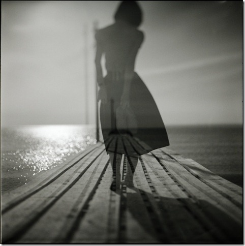 ghost girl on pier