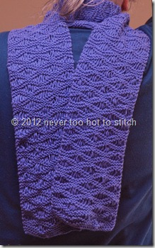 2012 purple dropped stitch scarf