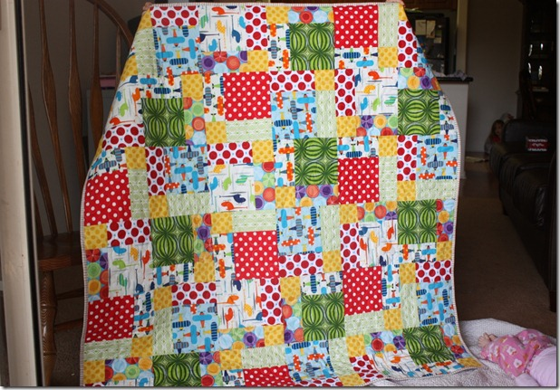 Disappearing 9patch boy quilt