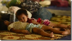 Kachin children in camp