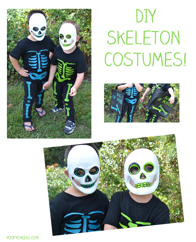 #DIY Halloween Costume - Skeleton Costumes by www.poofycheeks.com