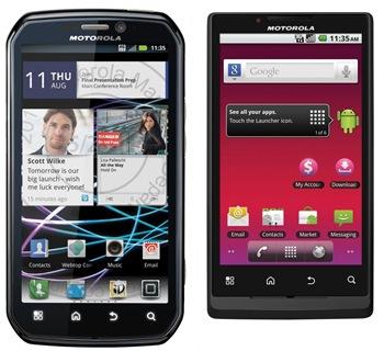 Motorola Photon et Motorola Triumph