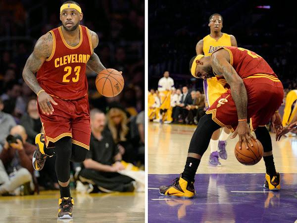 LeBron Drops 36 in LA vs Kobe and New LeBron 12 Fairfax PE
