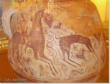 Vaso de los guerreros de La Serreta - Museo Arqueológico de Alcoi