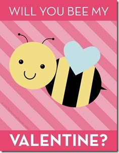 """""""Will you BEE my Valentine?"""" Young Women Valentines Free Download"""
