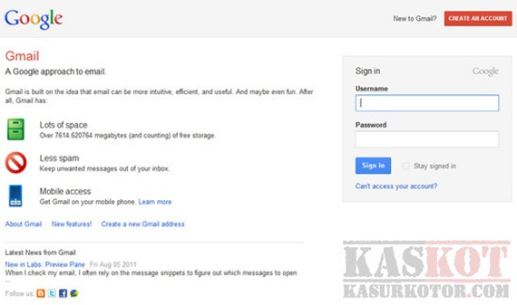 Tampilan Log-in/Sign-in Baru di Gmail