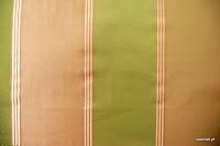 Tkanina zasłonowa w pasy. Również na, poduszki, narzuty, dekoracje. Zielona, różowa.