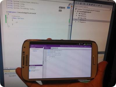 Acceso a la sesión desde un Galaxy S4