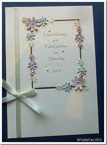 Punched Flower Wedding Invite