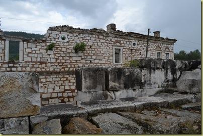 Stratonikeia House beyond bouleterion ruins