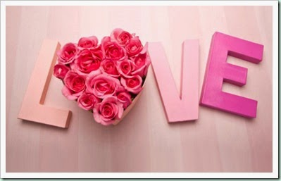 Valentine's-Day-Decoration-With-Simple-Love-Writing-And-A-Bouquet-Pink-Roses-On-Wooden-Background-For-The-Most-Wanted-Valentines-Day-Decorations-Love-2015