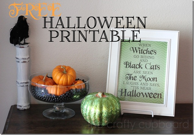 FREE Halloween Printable from the Crafty Cupboard